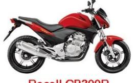 RECALL Honda CB300R – Freio pode falhar