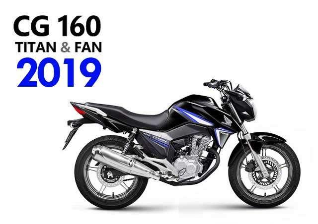nova cg 160 2019 mudanças