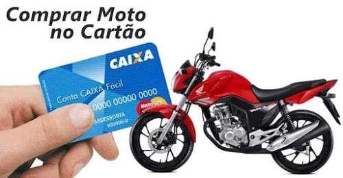 moto financiada no cartão de crédito